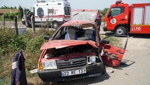 Yaralı sürücü, kaza sonrası gittiği evinden alındı