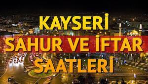 Kayseri'de ilk sahura kaçta kalkılacak 2018 Kayseri sahur ve iftar vakitleri