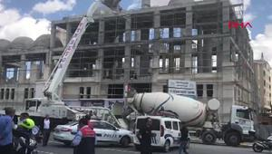 Cami inşaatında göçük: 6 yaralı