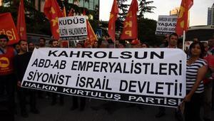 İsrail Başkonsolosluğu önünde eylemler devam ediyor