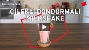 Çilekli Dondurmalı Milkshake