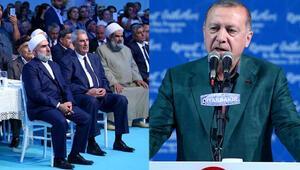 Cumhurbaşkanı Erdoğan konuşmasına ara vermişti... O anları anlattı