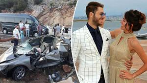 Mühendisler kaza yaptı... Nişanlı çift öldü, 2 mühendis ağır yaralı