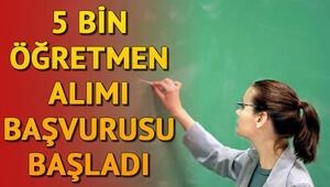 5 bin sözleşmeli öğretmen alımı başvuruları başladı | Başvuru şartları neler