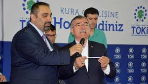 Bakan Yılmaz, Sivasta 438 TOKİ konutu kura çekimine katıldı