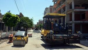 Siverek'te sıcak asfalt çalışmaları