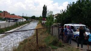 Koyun otlatırken sulama kanalına düşüp öldü