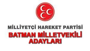 MHP Batman Milletvekili Adayları kimler 2018 MHP Batman Adayları