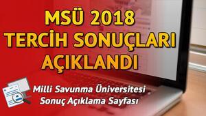Milli Savunma Üniversitesi (MSÜ) tercih sonuçları açıklandı | MSÜ tercih sonuçları