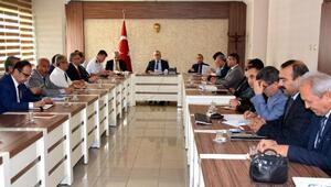 Niğdede il idare şube başkanları, Vali Şimşek başkanlığında toplandı
