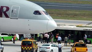 Atatürk Havalimanında hareketli anlar Tunuslu yolcunun yaptığı şok etti...