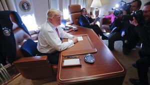 Trump, Air Force One uçağında gündemi değerlendirdi