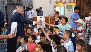 Onikişubattan Kuran Kursu çocuklarına hediye
