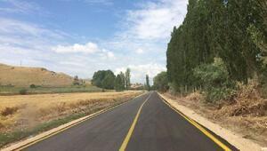 Amasya'da 65 kilometrelik yol asfaltlandı