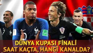 Dünya Kupası finali ne zaman saat kaçta Fransa Hırvatistan maçı için heyecan dorukta