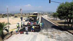 Otogar-otoban bağlantı yolunda asfalt çalışmaları başladı