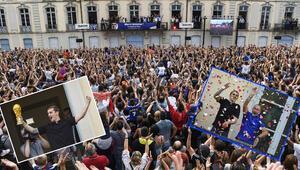 Griezmann, doğum yerinde şampiyonluğu doyasıya kutladı