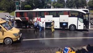 Esenlerde yolcu otobüsünde yangın-1