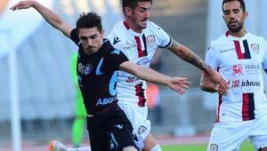 Trabzonspor - Cagliari maçı başladığı gibi bitti