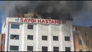 FOTOĞRAF EK 2//Sultanbeylide hastane çatısında yangın