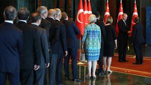 Son dakika... Cumhurbaşkanı Erdoğan, Beştepede tebrikleri kabul etti