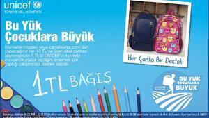 """CarrefourSA'dan UNICEF'in """"Bu Yük, Çocuklara Büyük"""" kampanyasına destek"""