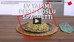 Ev Yapımı Pesto Soslu Yaz Spagettisi
