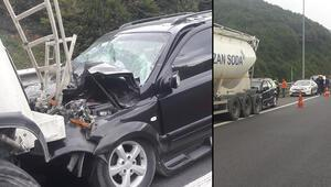 TEM Otoyolunda kaza 2 yaralı