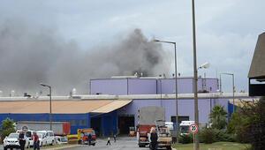 Tuzlada akü fabrikasında yangın