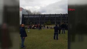 Akü fabrikasında yangın