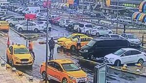 Otogardaki taksici kavgası kamerada