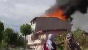 Sultanbeylide yangın:  2 yaralı