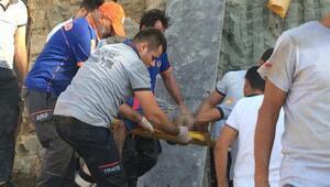 Kolej inşaatında istinat duvarı çöktü: 1 işçi öldü, 2 işçi yaralı / Ek fotoğraf