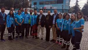 DEÜ Rektörü Prof. Dr. Nükhet Hotar, Cumhurbaşkanlığı 54. Bisiklet Turunun kupa törenine katıldı