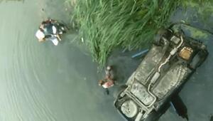 Otomobil, Yeşilırmak Nehrine uçtu: 3 yaralı (2)