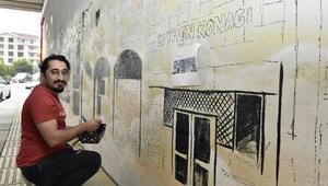 Mamak'ta sokaklar grafiti çalışmalarıyla süsleniyor