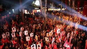Bağdat Caddesi kırmızı beyaza büründü