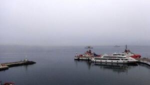 Çanakkale Boğazında gemi geçişlerine sis engeli