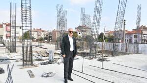 Başkan Kafaoğlu 2. ALGEM binasının inşaatını yerinde inceledi