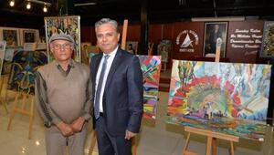 Başkan Uysal, ressam Bağdaşın sergisini gezdi