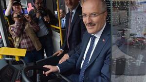 Balıkesirde yerli ve milli elektrikli otobüs dönemi