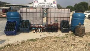 Çanakkalede 7 bin 125 litre kaçak şarap ele geçirildi