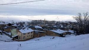 Evlerinin çatılarını kardan temizlediler