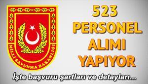 MSB 523 personel alımı başvurusu için son gün Başvuru şartları neler