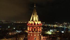Galata Kulesinde kadına şiddet turuncusu