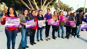 Kadına şiddet, Mersinde protesto edildi