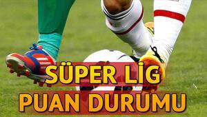 Süper Lig puan durumunda son durum... 14. hafta maç sonuçları ve oluşan puan tablosu