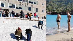Antalya iki mevsim bir arada