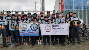 Trakya Üniversitesi Bisiklet Topluluğu'ndan Kampüse Yolculuk