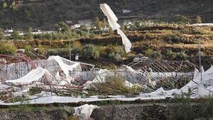 Anamur'u hortum ve fırtına vurdu, milyonlarca liralık hasar var